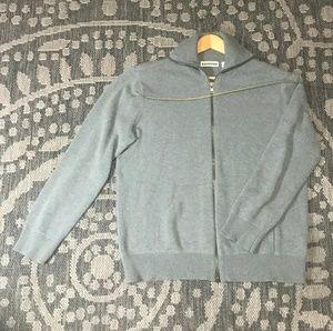Express Gray Double Zipper Sweater sz XL